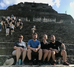 DPT students at ruins in Belize