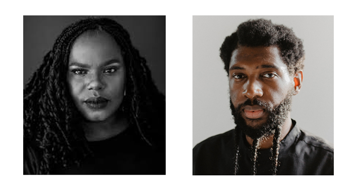 Headshots of Hannah Drake and Jecorey Arthur