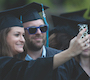 Commencement: new graduates take selfie photo